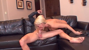 Diana Doll in sexy stockings cumshot
