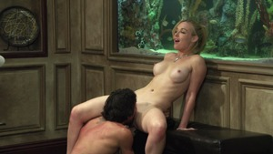 Girl Kayden Kross really likes hard nailining