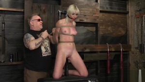 Blonde hair Marie Mccray feels the need for bondage