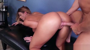 Brooklyn Chase in tight stockings rough getting a facial
