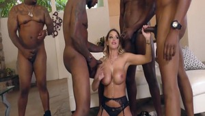 Busty Brooklyn Chase in the company of Jax Slayher gangbang